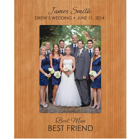 Groomsmen picture frame, Personalized Best Man and Best Friend photo frame Gift Holds 5 x 7 Photo
