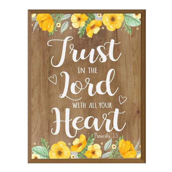 Inspirational Pine Wood Home Decor Wall Plaque - Trust In The Lord