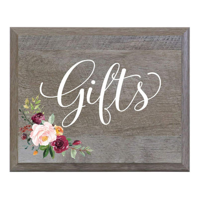 """Gifts"" Decorative Wedding Signs for Ceremony and Reception"