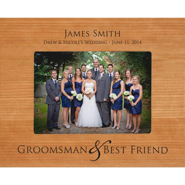 Personalized Groomsmen Photo Frame (5 x 7 Photo)