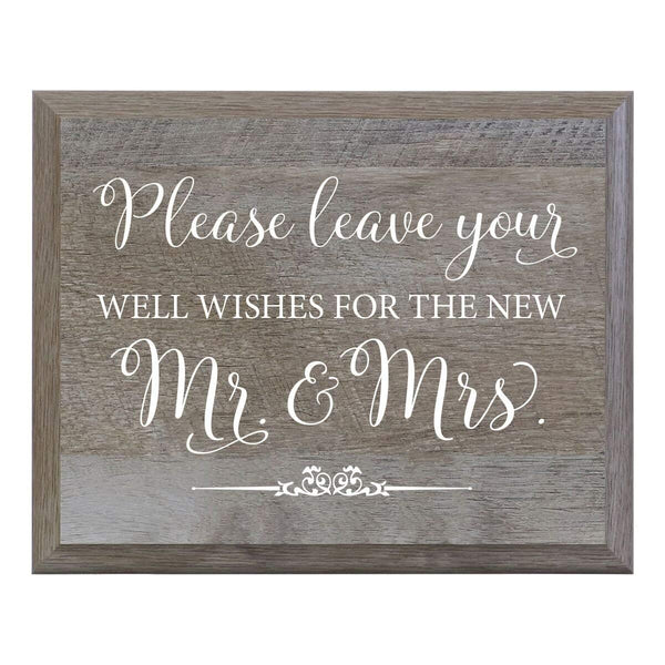 """Well Wishes"" Decorative Wedding Signs for Ceremony and Reception"