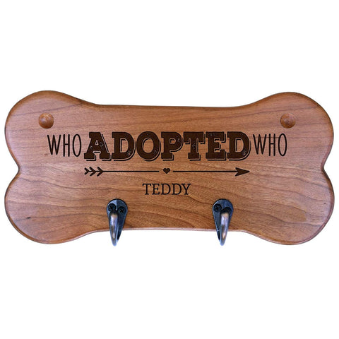 Personalized Dog Bone Storage Racks - Cherry Who Adopted Who
