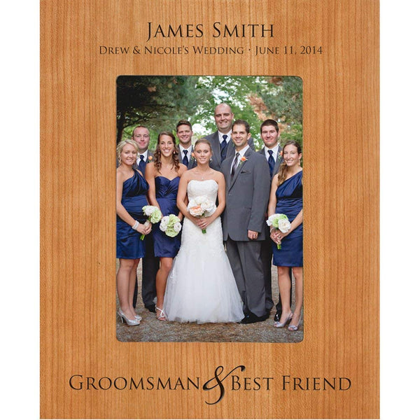 Groomsmen picture frame, Personalized Groomsmen & Best Friend Gift Holds 5 x 7 Photo