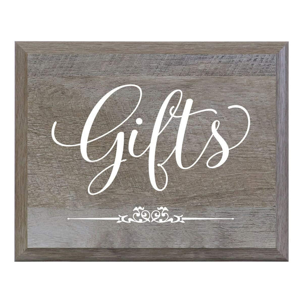 LifeSong Milestones Gifts Decorative Wedding Party signs for Ceremony and Reception for Bride and Groom (8x10)
