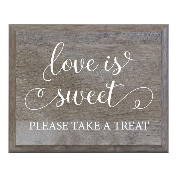 Love Is Sweet Please Take A Seat Decorative Wedding Party sign