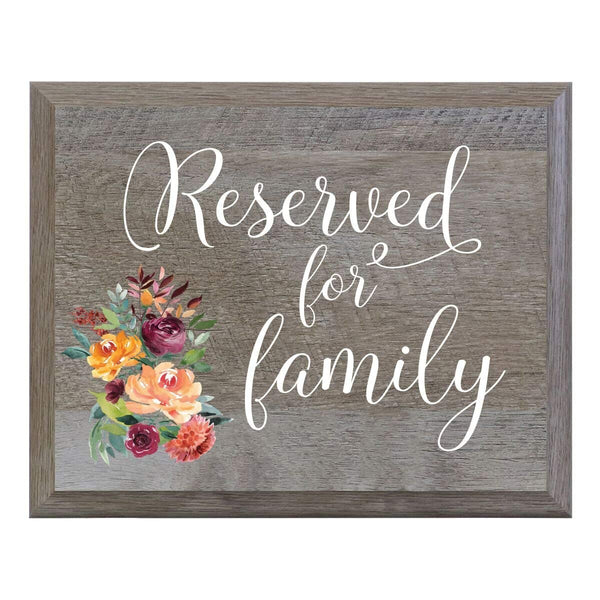 """Reserved for Family"" Decorative Wedding Sign - Ceremony & Reception"