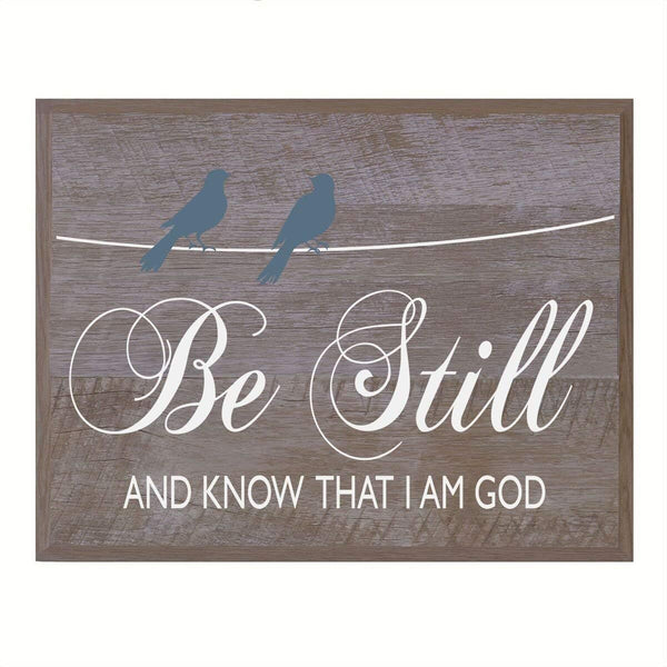 Housewarming Decorative New Home Wall Plaque - Be Still and Know