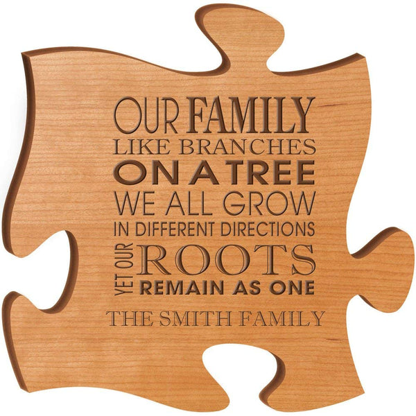 Personalized Custom Engraved Family Puzzle Sign - Our Family Like Branches On A Tree