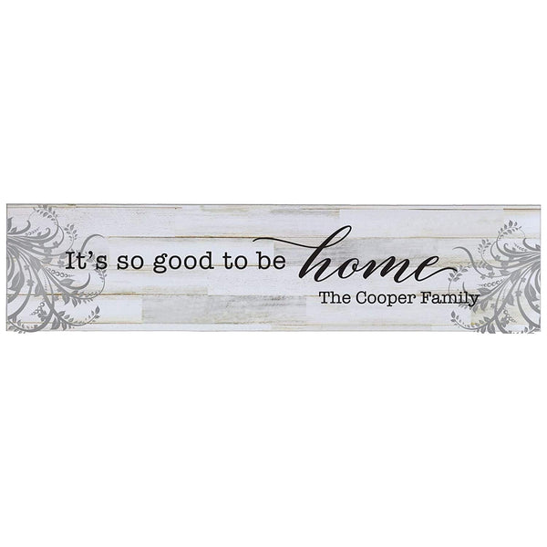"LifeSong Milestones Personalized Family Established Wall Signs, Last Name sign for home, Wedding, Anniversary, Living Room, Entryway 10"" H x 40"" L (Distressed White)"