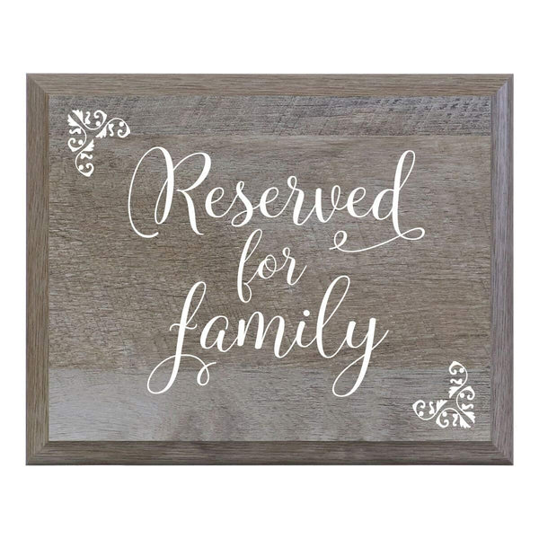 LifeSong Milestones Reserved for Family Decorative Wedding Party signs for Ceremony and Reception for Bride and Groom (8x10)