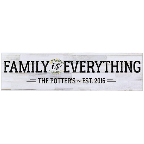 Personalized Inspirational Wall Plaque - Family Is Everything