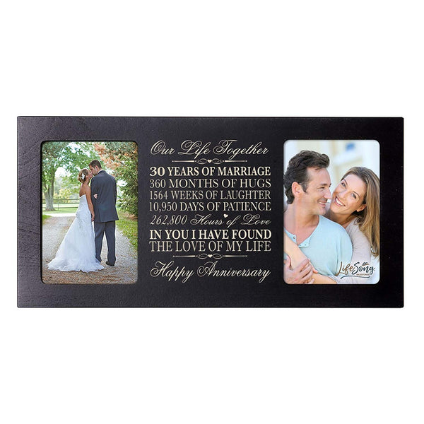 LifeSong Milestones 30th Anniversary Gift 30th wedding anniversary picture frame Celebrating Our 30th wedding anniversary with anniversary dates