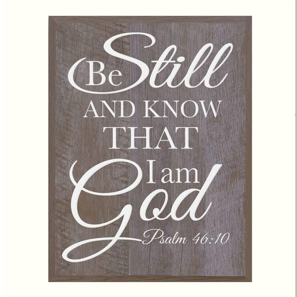 Digitally Printed Home Decor Wall Plaque - Be Still And Know Barnwood