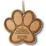 personalized wooden memorial memory pet dog cat paw print