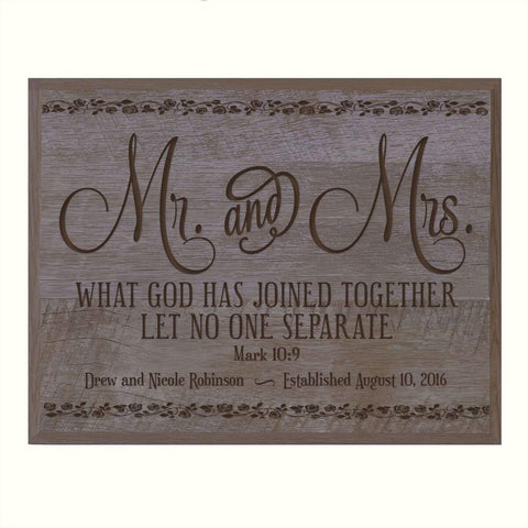 Personalized Wedding Anniversary Plaque - Mr. & Mrs.