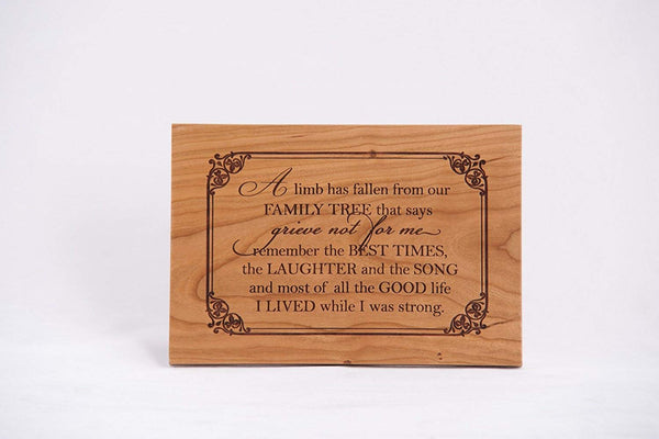 Memorial Plaque Memorial Gift for loved one Family member gift loss of loved one