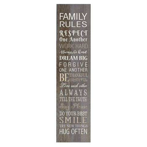 Family Rules Decorative Wooden Wall Art Sign