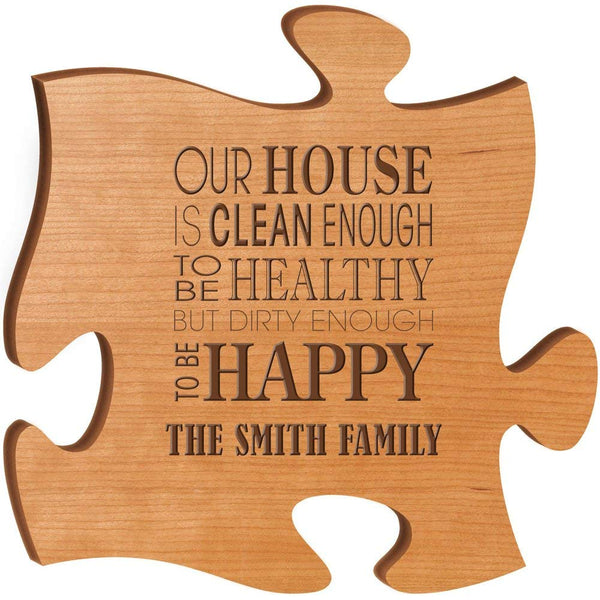 Personalized Puzzle Custom Laser Engraved Wall Decor for Family and Friends (Made in USA) (white)