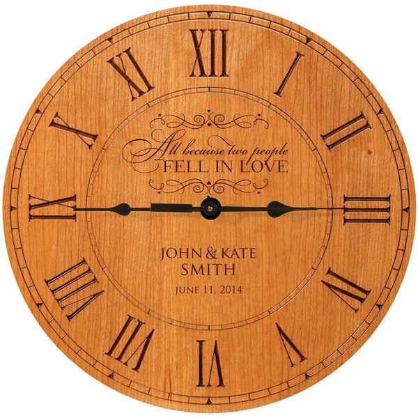 Personalized Wedding Anniversary Wall Clock Gift 12 inches