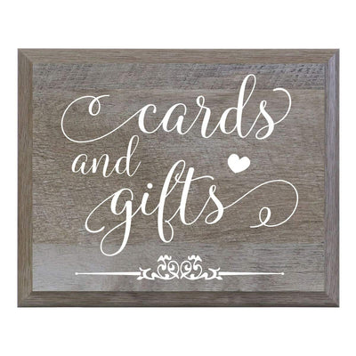 Cards and Gifts Wooden Decorative Wedding Party sign