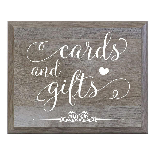 LifeSong Milestones Cards and Gifts Decorative Wedding Party sign for Ceremony and Reception for Bride and Groom (6x8)