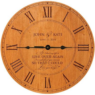 Personalized Wedding Anniversary Clock