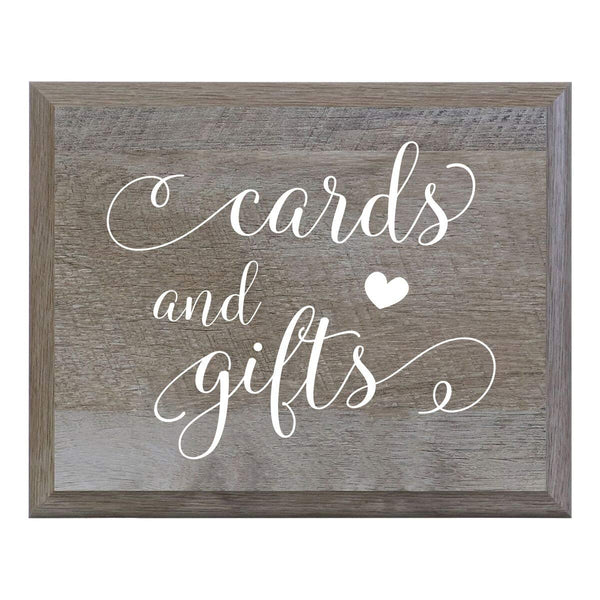 Cards and Gifts Decorative Wooden Wedding Party sign