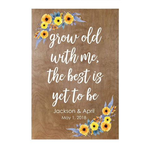 Personalized Grow Old With Me Family Name Wall Art Decor Print Wedding Sign