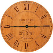 Personalized Wedding Anniversary Clock Gift Family Love Story