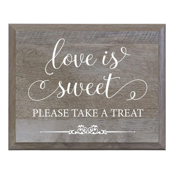 Barn Wood Wedding Party Sign Plaque - Love Is Sweet