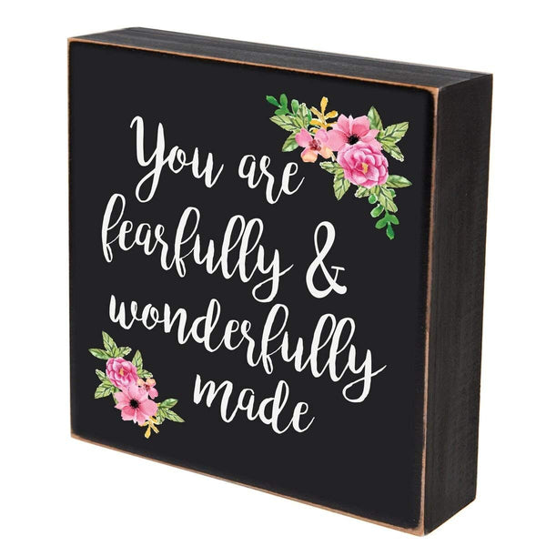 Digitally Printed Shadow Box Wall Decor - Fearfully And Wonderfully