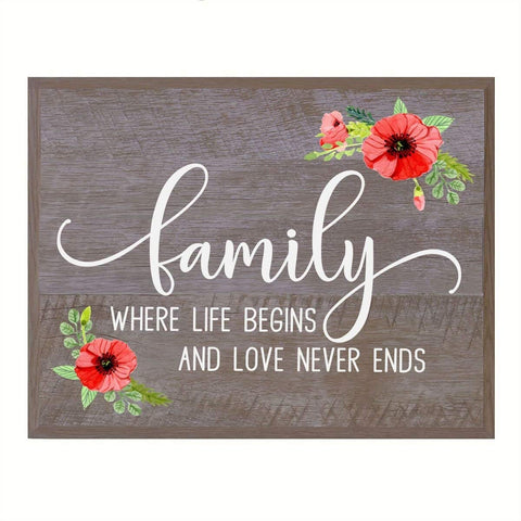 Family Wall Plaque Family wedding anniversary Housewarming Gift for husband wife Parents, New Home Christian gift ideas 12 Inches w X 15 Inches By LifeSong Milestones