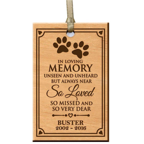 custom home memorial memory ornament gift pet dog cat in loving memory