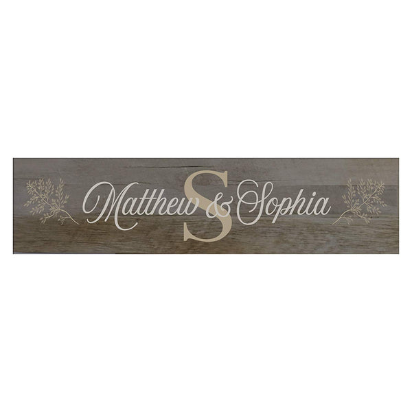 Decorative Personalized Wooden Wall Sign Art Size 10 x 40
