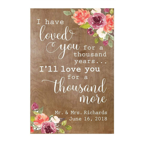 Personalized I Have Loved You Name Wall Art Sign