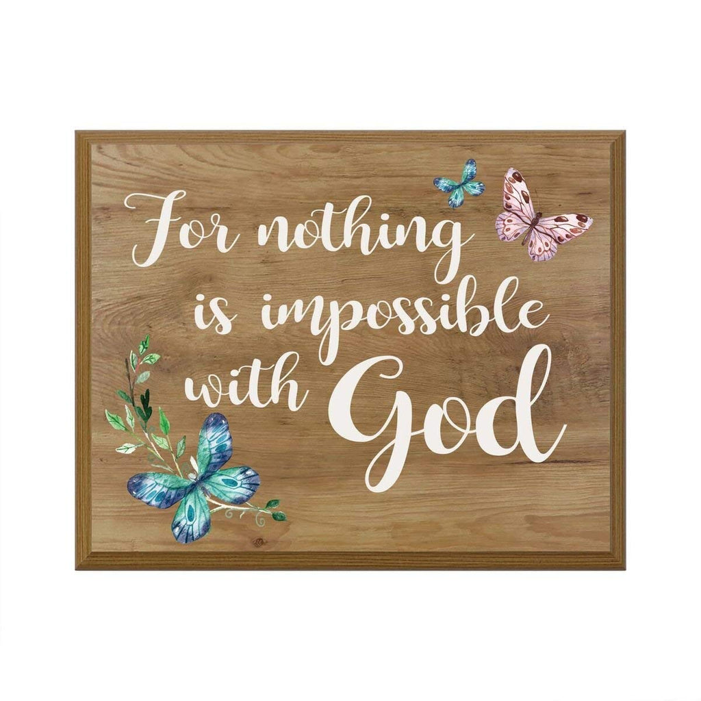 For Nothing Is Impossible With God Gift For Husband Wife Couple