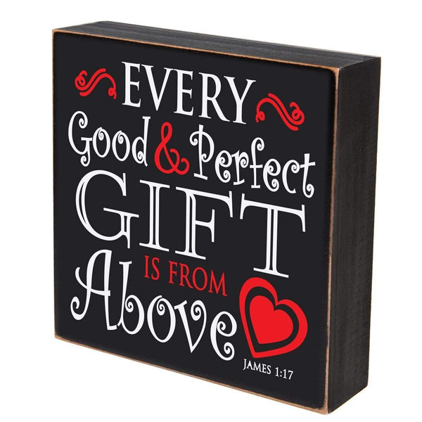 Digitally Printed Shadow Box Wall Decor - Every Good & Perfect Gift