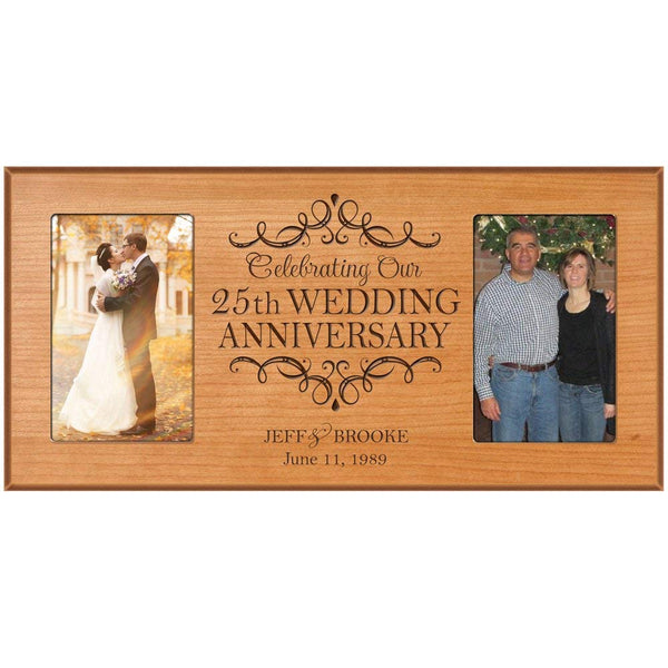 25th Wedding Anniversary Personalized 4x6 Photo Frame