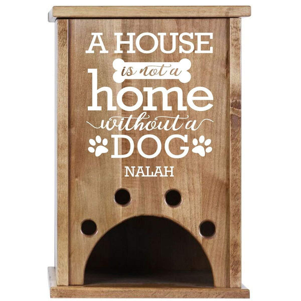 Personalized Pet Toy Box - A House Is Not A Home Cherry
