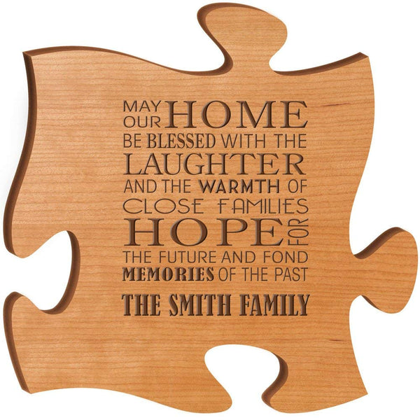 Personalized Custom Engraved Puzzle Sign - May Our Home Be Blessed With The Laughter