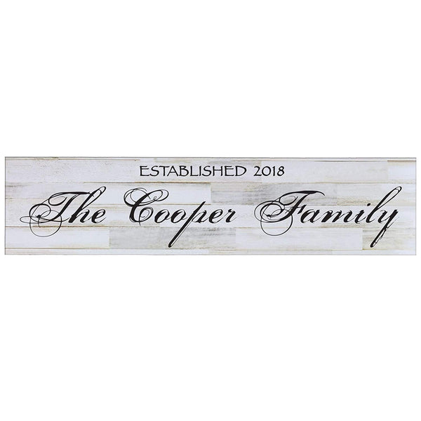Established Wooden Wall Sign Art Size 10 x 40