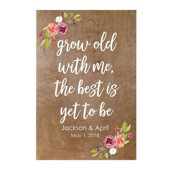 Personalized Grow Old With Me Custom Family Name Wall Art Decor Print Wedding Sign