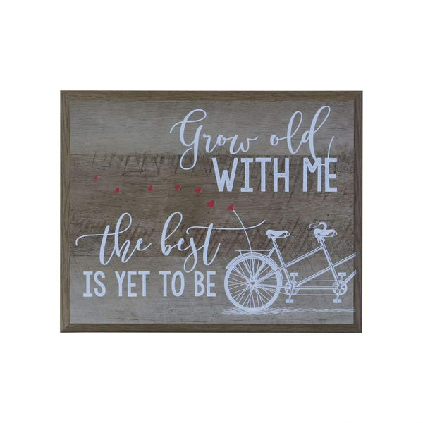 Grow Old With Me Gift for husband wife Parents, best friend, and Christian gift ideas 12 Inches Wide X 15 Inches High Wall Plaque By LifeSong Milestones