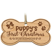 Personalized Pet Bone Christmas Ornament