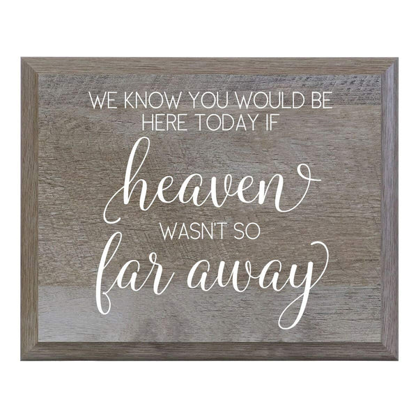 LifeSong Milestones We Know You Would Be Here Today If Heaven Wasn't So Far Away Decorative Wedding Party sign for Ceremony and Reception for Bride and Groom (6x8)