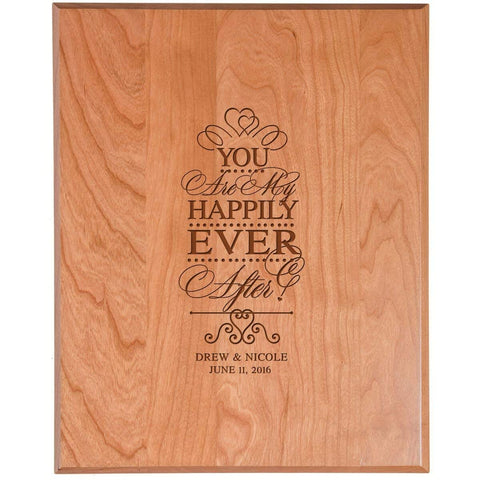 wooden anniversary wedding marriage gift happily ever after