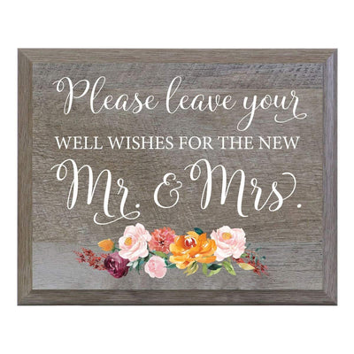 """Please Leave Your Well Wishes"" Wedding Sign for Ceremony & Reception"