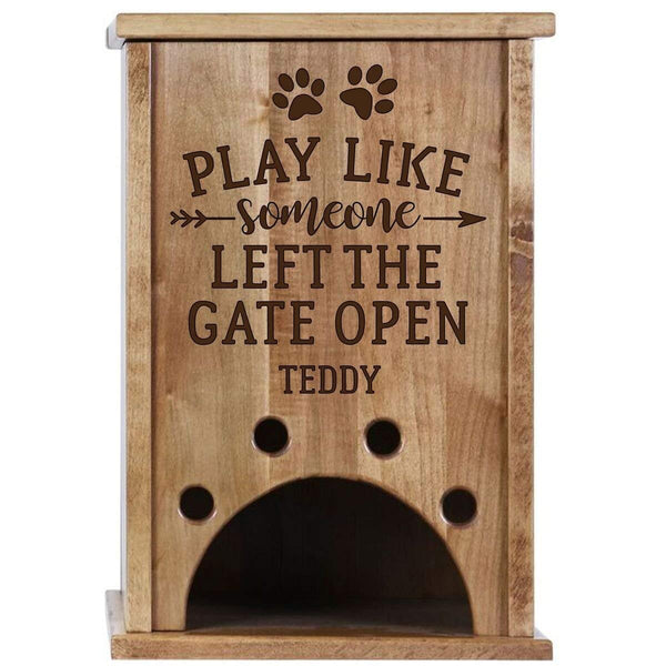 Personalized Pine Pet Toy Box - Play Like Someone Cherry