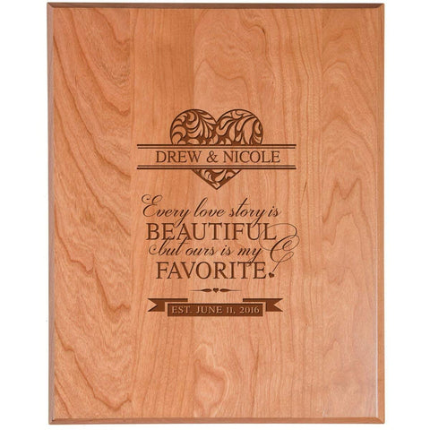 wooden anniversary wedding marriage gift every love story