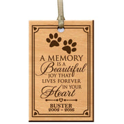 custom home memorial memory ornament gift pet dog cat a memory